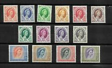 Rhodesia & Nyasaland 1954 QEII defintives, complete set to 5/- LMM (R005)