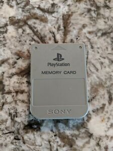 Official Sony PlayStation PS1 Memory Card OEM - Gray