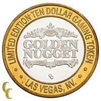 Golden Nugget Hotel Las Vegas NV $10 Casino Gaming Token .999 Silver Limited Ed.