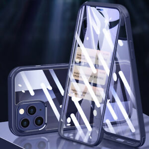 For iPhone 13 Pro MAX 12 11 XR 8 7 360° Double Tempered Glass Hard Case Cover