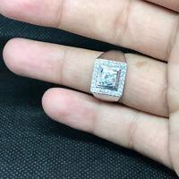 1.5Ct Round Cut Diamond Solitaire Men'S Wedding Ring 14K Yellow Gold Finish