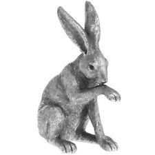 More details for hare ornament by leonardo reflections silver finish resin figurine sculpture new