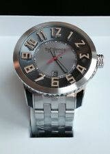 Tendence Swiss 3H Watch Grey Dial Stainless Steel Bracelet Date Quartz TG450052
