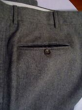 Polo Ralph Lauren Men's Pants 36 x 30 Charcoal Gray w Cuffs Italy Wool Cashmere
