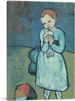 ARTCANVAS Child with Dove 1901 Canvas Art Print by Pablo Picasso