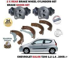 Para Chevrolet Kalos 1.2 1.4 T200 2005- > Freno Trasero Zapatos + 2X Cilindro