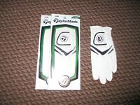 Lot of 2 Ladies TaylorMade Stratus Leather Golf Gloves Size Medium Left for RHer