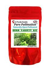 12 Herb Variety Fresh New Seed Pack Kit Heirloom Emergency Survival Garden Food
