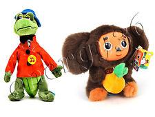 Set of soft talking toys Cheburashka with orange 17 сm and Crocodile Gena 22 cm