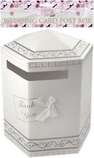 Blanc Hexagonal mariage carte Merci Post Box - 31 x 40 cms-New & Sealed