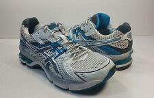 Asics Gel 3010 Women's Silver Blue White Running Shoes T995N $117 - Sz 8