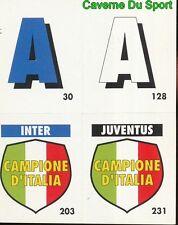 033 INTER JUVENTUS CAMPIONE D'ITALIA CARD CARTA CALCIO QUIZ VALLARDI 1991