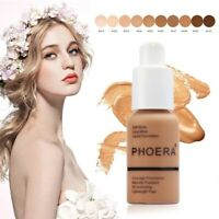 PHOERA Foundation Makeup Full Coverage Fast Base Brighten long-lasting Shade ⚘⚘