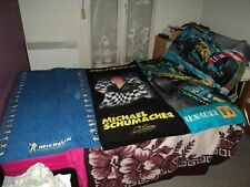 MICHELIN+MICHAEL SCHUMACHER+RENAULT F1 TEAM LOT DE 4 SERVIETTES DE PLAGE!!!