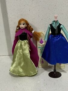 Disney Parks Princess Anna Doll 6 inches rare coronation outfit 2 dresses