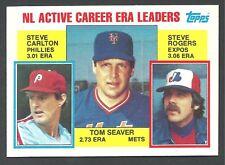 1984 Topps Earned Run Average Leaders #708 - Seaver - Carlton - Rogers