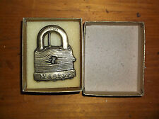 VINTAGE MASTER LOCK BELT BUCKLE  NEVER BEEN OUT OF THE BOX TOUGH UNDER FIRE