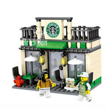 Building Bricks Compatible Modular Starbucks coffee Shop City FREE Lego Brick