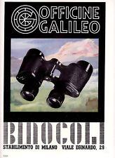 PUBBLICITA 1941 OFFICINE GALILEO BINOCOLO 8X30 DELTA MILANO STRUMENTI PRECISIONE