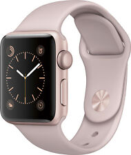 Open-Box Excellent: Apple - Apple Watch Series 2 38mm Rose Gold Aluminum Case...