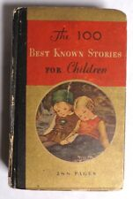 ESZ5661. Vintage: 100 BEST KNOWN STORIES FOR CHILDREN Hardcover Whitman (1933)