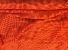 TWO-TONE ORANGE GINGHAM PRINT DRESS FABRIC  (A27)