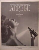 1961 Advertisement from Esquire ARPEGE from LANVIN Fragrance