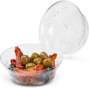 20 Pack Clear Plastic Party Bowls Soup Salad Dessert Wedding Dinner Bowls Party