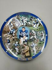 """Danbury Mint Johnny Unitas Baltimore Colts Collector's Edition 12"""" Plate #AA7799"""