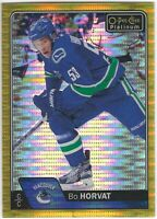 2016-17 O-Pee-Chee Platinum Seismic Gold #59 Bo Horvat /50