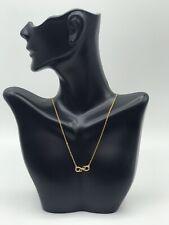 18KT Gold Layered Fancy Necklace, Infinite & Heart Design/Gargantilla Infinito