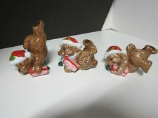 Fitz & Floyd? Tumbling Christmas Puppies/Dogs Figurines Set Of 3