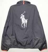 Polo Ralph Lauren Mens Gray Performance Windbreaker Jacket NWT Size XXL 2XL