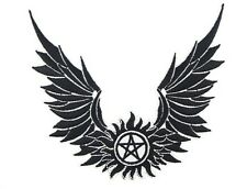 Supernatural Castiel Wings Embroidered Iron on PATCH