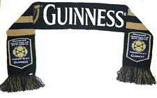 Guinness Beer Advertising Scarf 60� Double Sided Euc Black Gold - Rare
