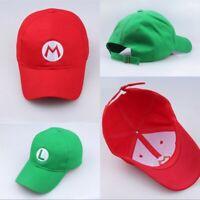 313862562 Super Mario Bros Luigi Baseball Costume Embroidered Hat Anime ...