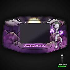 Game Boy Advance Shell Funda Mewtwo Pokemon Uv Impresión Batería Usb C IPS Gba