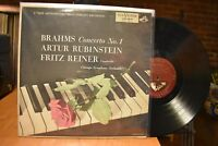 Rubinstein Reiner Brahms Concerto No. 1 LP RCA Shaded Dog LM-1831 Mono