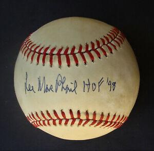 LEE MAC PHAIL HOF 98 signed  Baseball MLB Autographed  COA