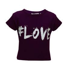 T-shirts et débardeurs violets pour fille de 9 à 10 ans