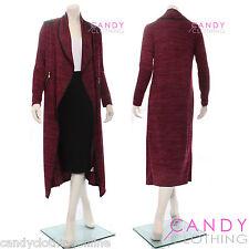 Womens Ladies Oversized Baggy Long Draped Cape Cardigan Coat Shrug Top Poncho