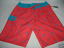 New Mens 40 Quiksilver Board Shorts Long Surf Red Blue $55