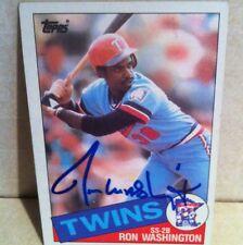 1985 Topps Ron Washington Auto Signed Card