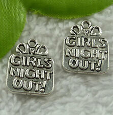 Free Ship 128 pieces tibet silver GIRLS NIGHT OUT charms 22x16mm #2378