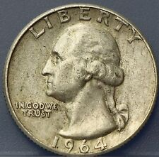 USA - Amerika 1964 D Washington Quarter Dollar, 25 cents. Silver.