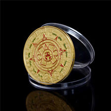 40mm Gold Plated Mayan Aztec Prophecy Calendar Commemorative Coin Collection M&C
