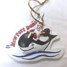 Newport Dunes Resort Chrismas Tree Ornament Newport Beach CA Santa Riding Whale