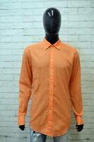 CALVIN KLEIN Camicia Uomo Taglia 41 ( XL ) Maglia Camicetta Manica Lunga Casual