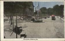 Biddeford ME City Square c1915 Postcard