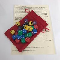 Perudo / Dudo / Cacho / Pico Dice Game / Liars Dice Set of 30 Dice in a Bag D155